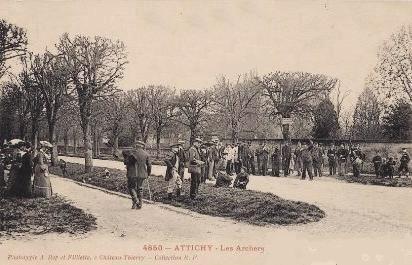 Attichy oise cpa jeu d arc 1905