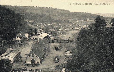 Audun-le-Tiche (Moselle) Le carreau de la mine Saint-Michel CPA