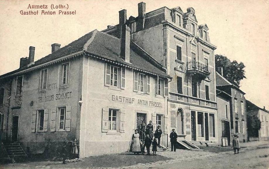 Aumetz (Moselle) L'hôtel Anton Prassel CPA