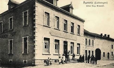 Aumetz (Moselle) L'hôtel Brausch CPA
