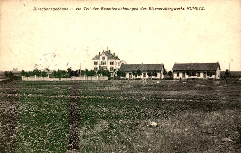 Aumetz (Moselle) L'usine, la cité CPA