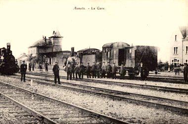 Aumetz (Moselle) La gare CPA