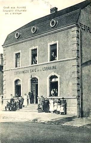 Aumetz (Moselle) Le café de la Lorraine CPA