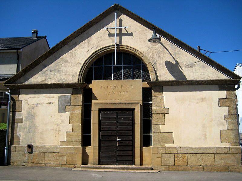 Aumetz (Moselle) Le temple protestant