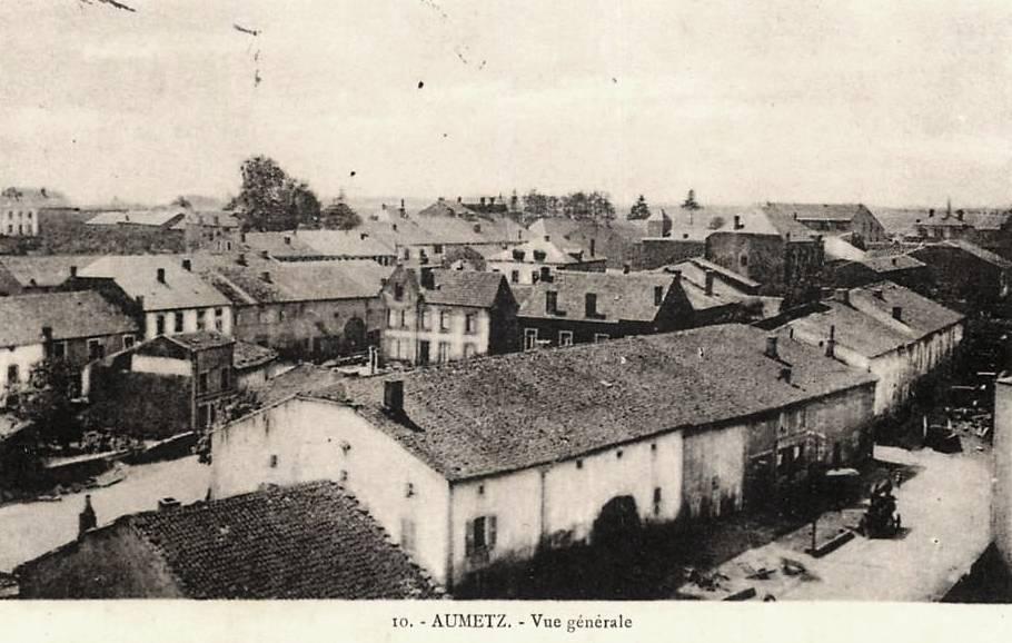 Aumetz (Moselle) Vue générale CPA
