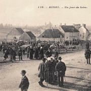 Aunay-en-Bazois (Nièvre) La foire CPA