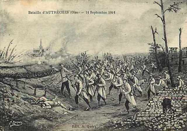 Autreches oise cpa 14 18 bataille 1915