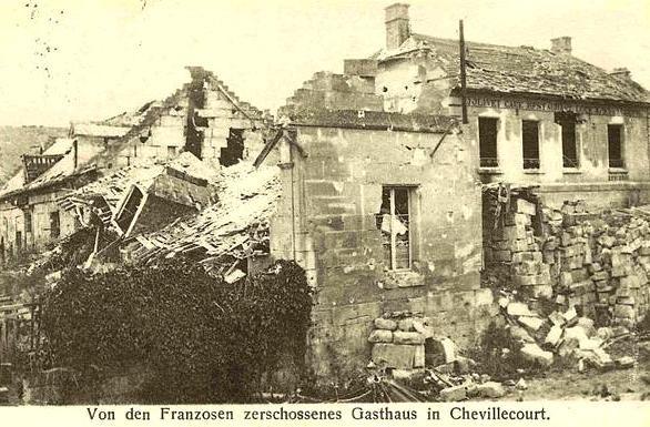 Autreches oise cpa 14 18 chevillecourt