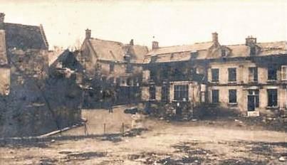 Autreches oise cpa 14 18 village en ruines
