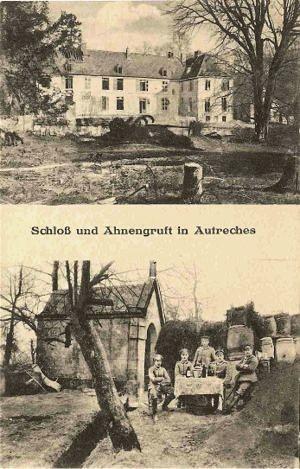 Autreches oise cpa chateau et chapelle