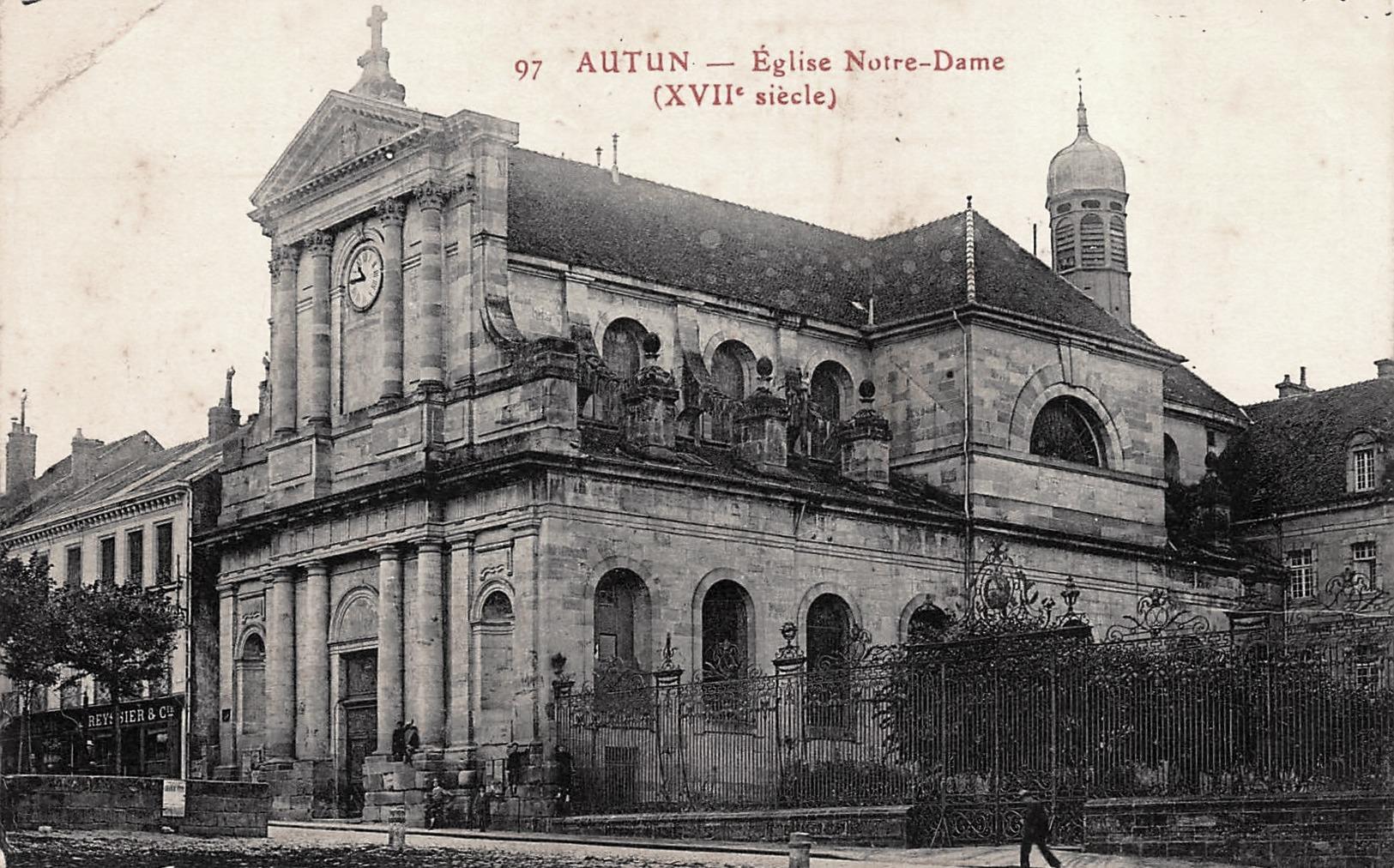 Autun (Saône-et-Loire) L'église Notre-Dame CPA
