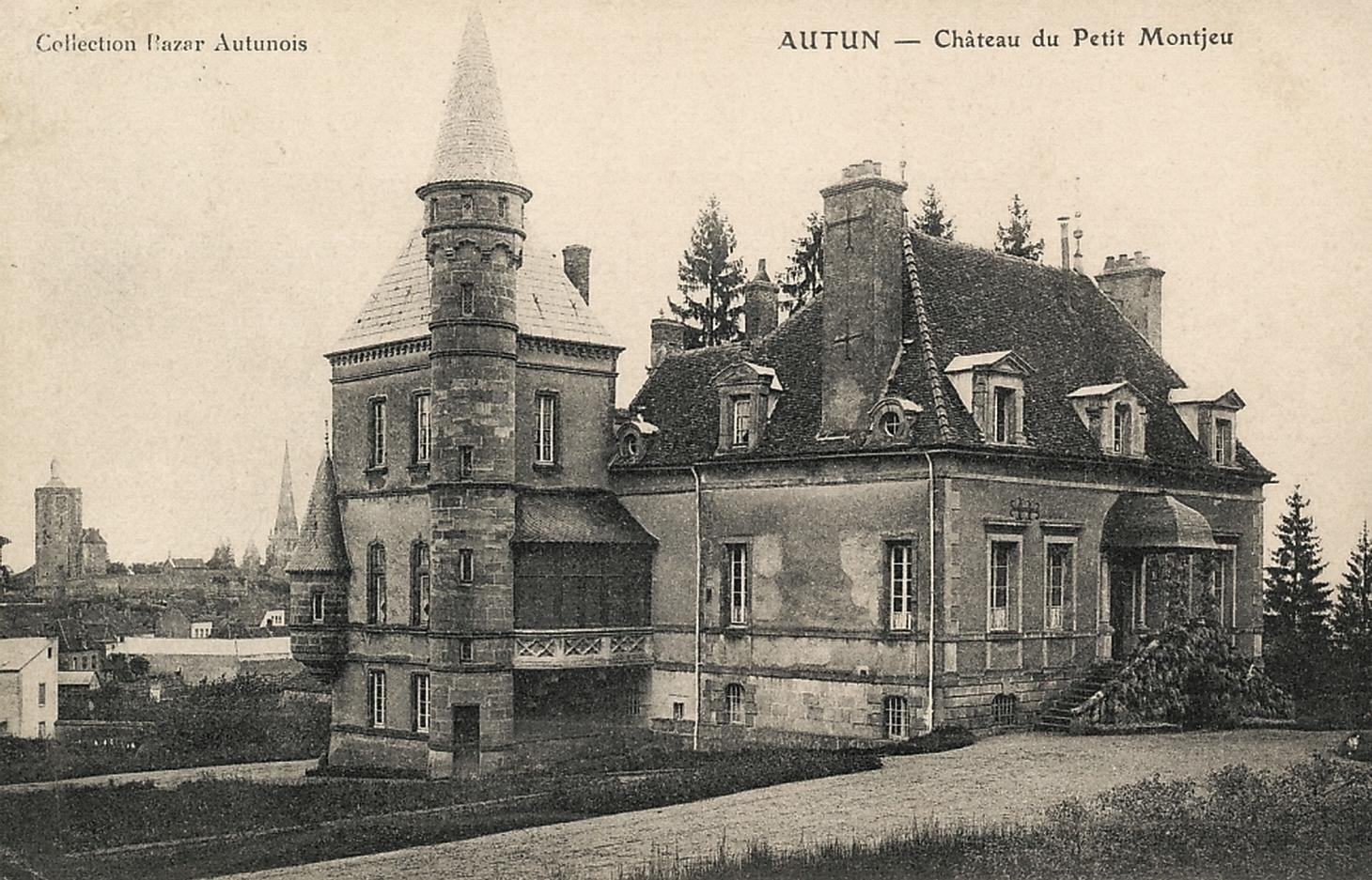 Autun (Saône-et-Loire) Le château du Petit Montjeu CPA