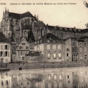 Auxerre (89) L'Abbaye Saint-Germain et vieilles maisons CPA3