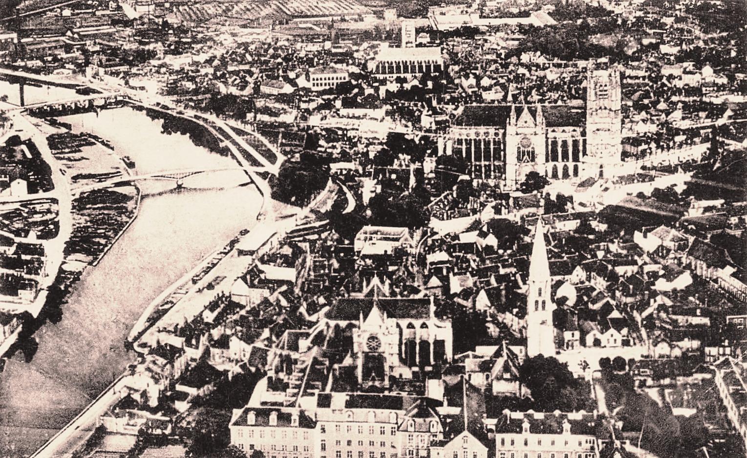Auxerre (89) Vue générale CPA