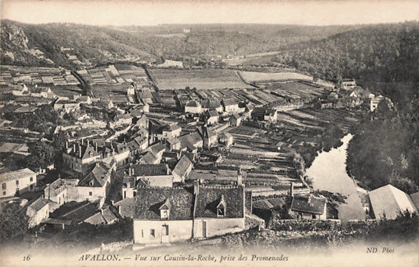 Avallon (89) Cousin-la-Roche CPA