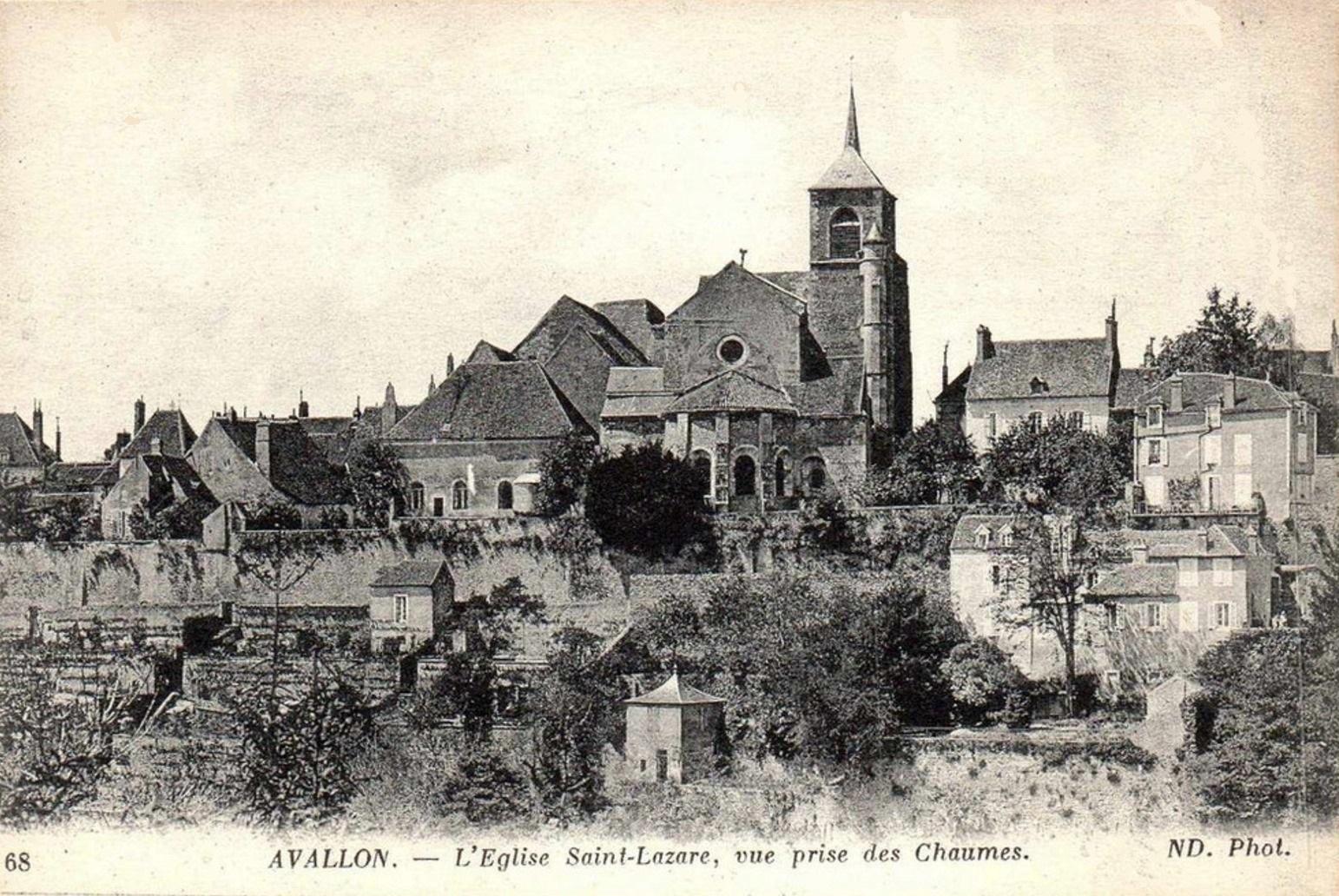 Avallon (89) L'Eglise Saint-Lazare CPA