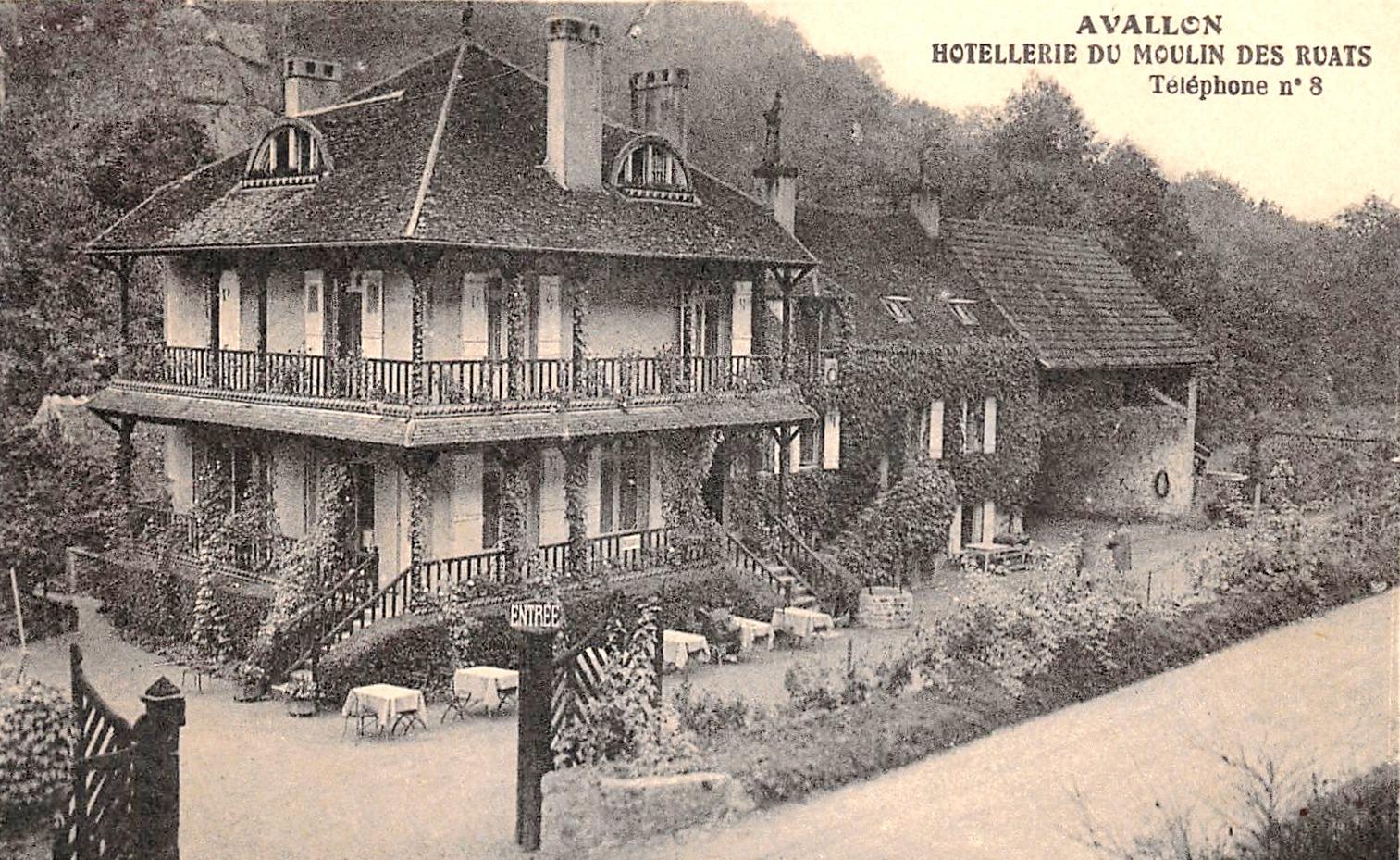 Avallon (89) L'Hôstellerie du Moulin des Ruats CPA