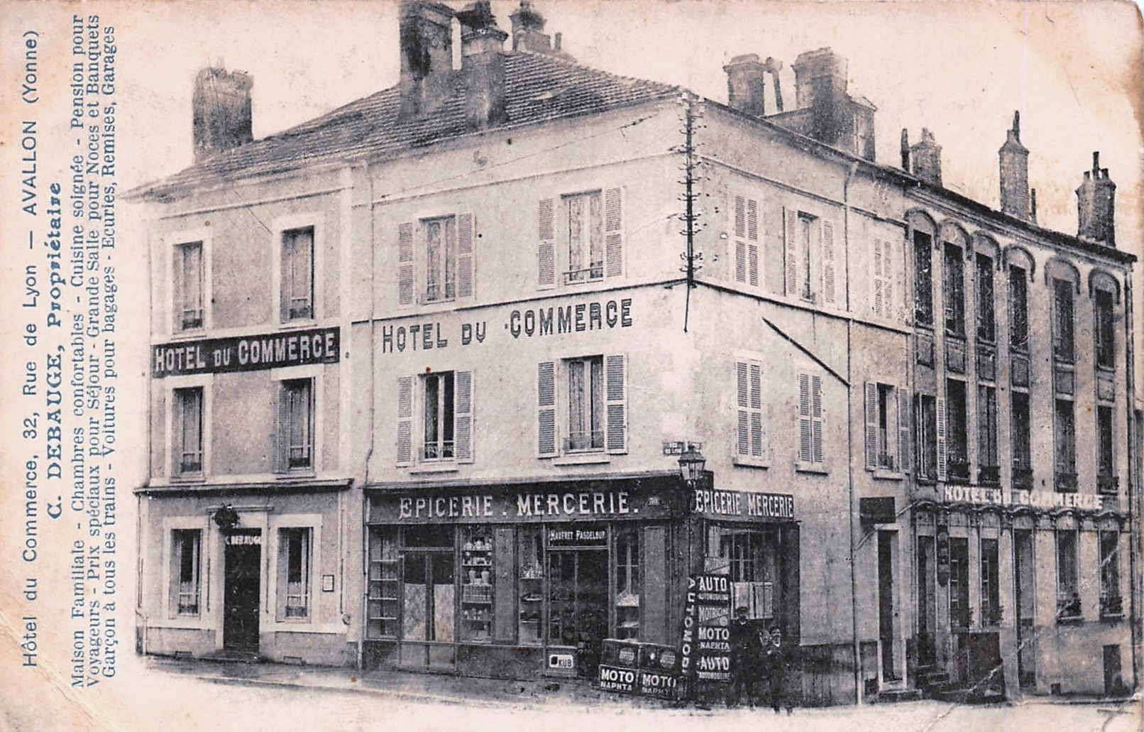 Avallon (89) L'Hôtel du Commerce CPA