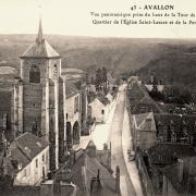 Avallon (89) Vue panoramique CPA