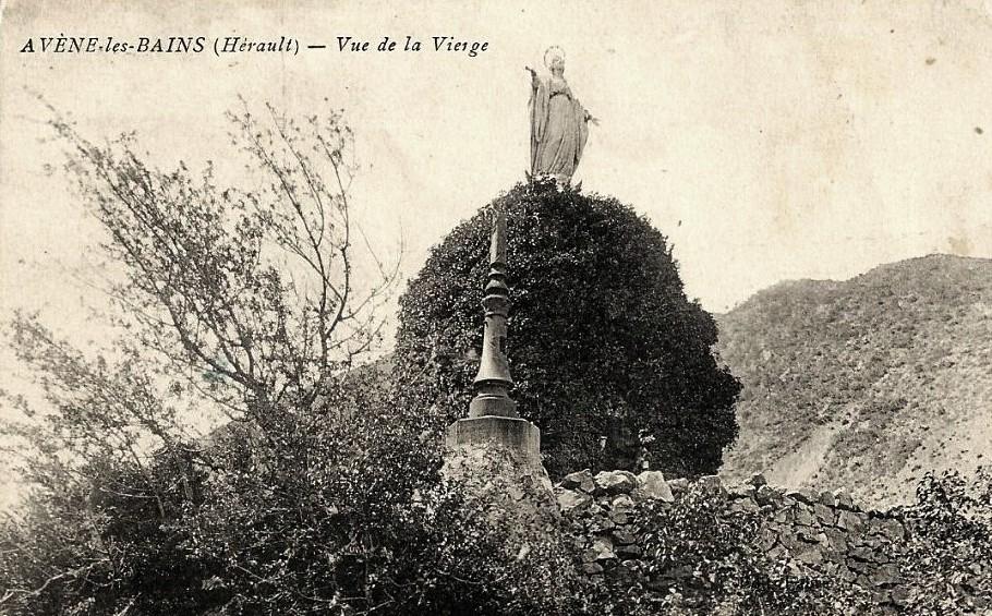 Avène (Hérault) La vierge CPA