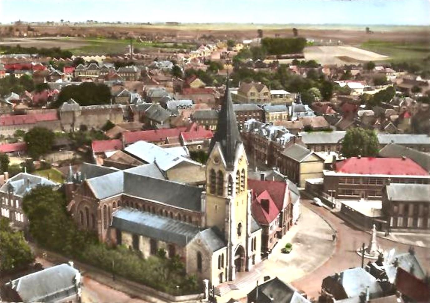 Avesnes les aubert 59 l eglise saint remi cpa
