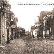 Avesnes les aubert 59 la grande rue cpa