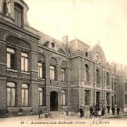 Avesnes les aubert 59 la mairie cpa