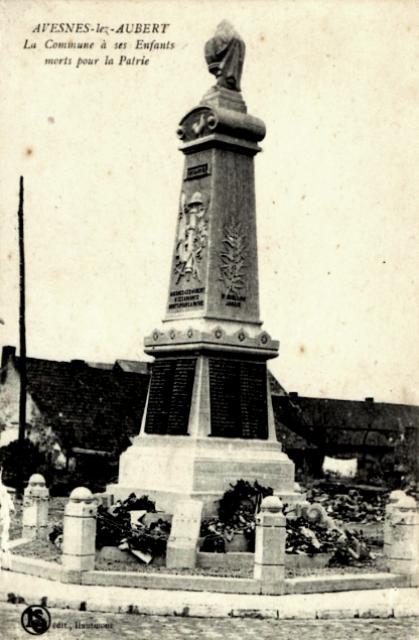 Avesnes les aubert 59 le monument aux morts cpa