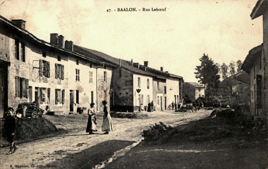 Baâlon (Meuse) La rue Leboeuf CPA