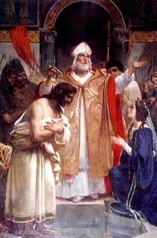 Baptème de Clovis, gravure 1829