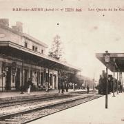Bar-sur-Aube (10) La gare CPA