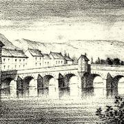 Bar-sur-Aube (10) Le pont et la chapelle expiatoire, gravure