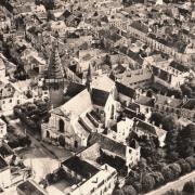 Bar-sur-Aube (10) Vue aérienne CPA