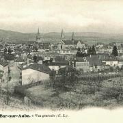 Bar-sur-Aube (10) Vue générale CPA