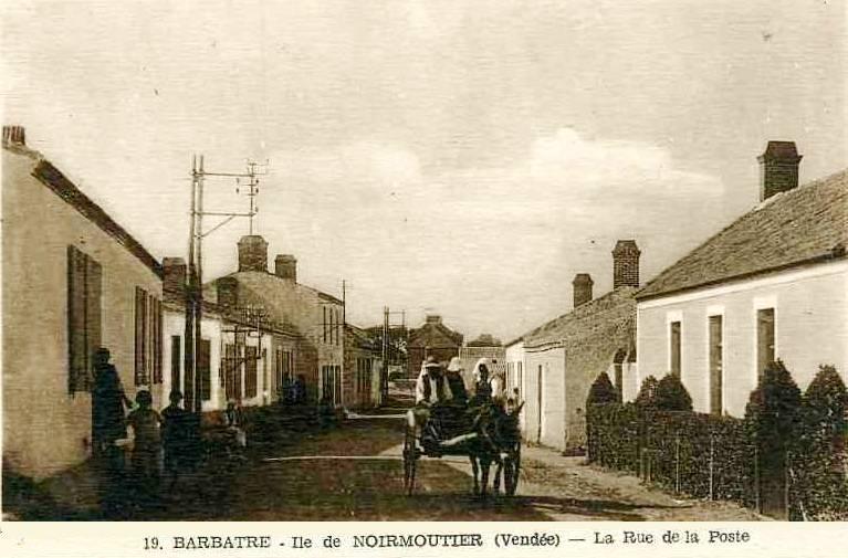 Barbâtre (Vendée) Rue de la Poste CPA