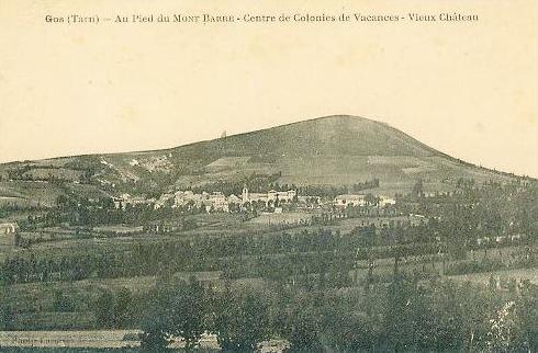 Barre (Tarn) CPA Gos, château et colonie de vacances