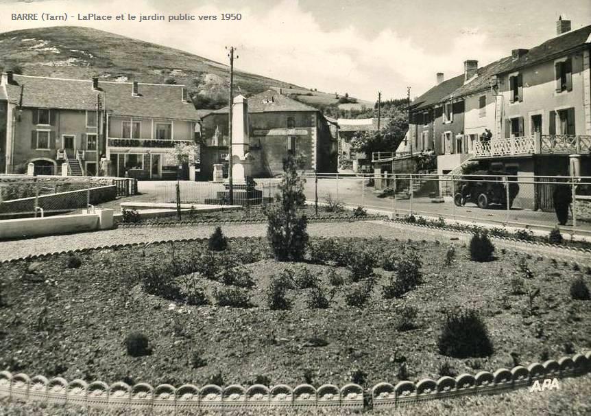 Barre (Tarn) CPA place et jardin public