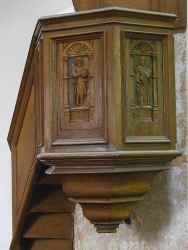 Baulne-en-Brie (Aisne) Chaire de l'église Saint Barthélémi