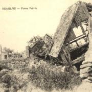 Baulne-en-Brie (Aisne) CPA 14-18 Ferme en ruines