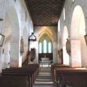 Baulne-en-Brie (Aisne) L'église Saint-Barthélémi intérieur
