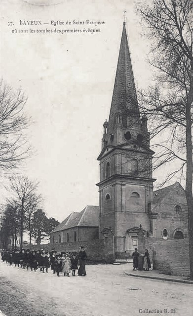 Bayeux calvados l eglise saint exupere cpa