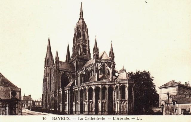 Bayeux calvados la cathedrale cpa