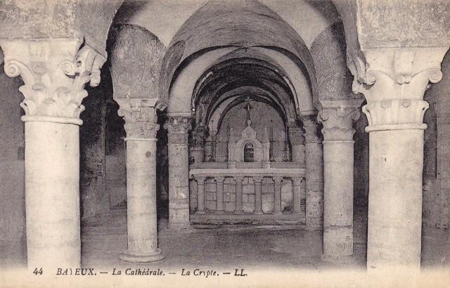 Bayeux calvados la cathedrale la crypte cpa