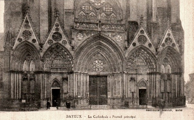Bayeux calvados la cathedrale le portail cpa