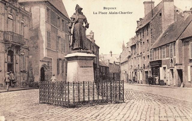 Bayeux calvados la place alain chartier cpa
