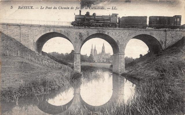 Bayeux calvados la pont du chemin de fer cpa