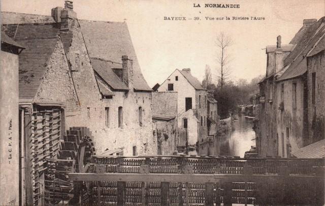 Bayeux calvados la riviere aure cpa