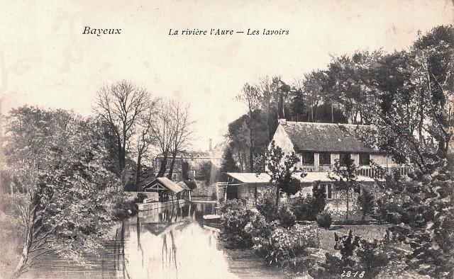 Bayeux calvados la riviere aure les lavoirs cpa