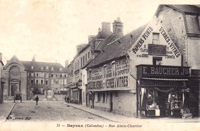 Bayeux calvados la rue alain chartier cpa