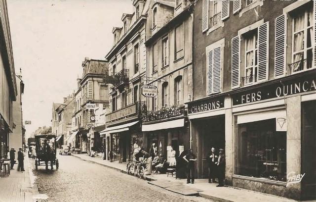 Bayeux calvados la rue saint malo cpa